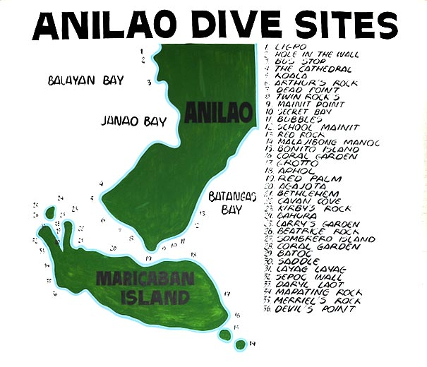 Anilao Dive Sites